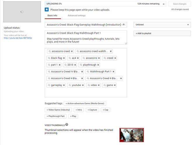 Uploading-Video
